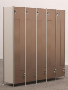 LOCKERS 3 - BY USING ALUMINIUM FRAME