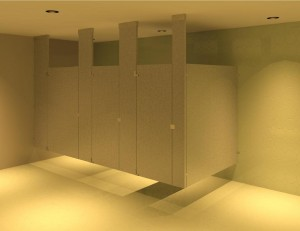 TOILET CUBICLE 4 - CEILING HUNG