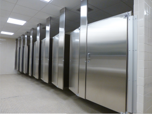 TOILET CUBICLE 5 - STAINLESS STEEL